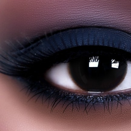 regard sombre et smoky eyes