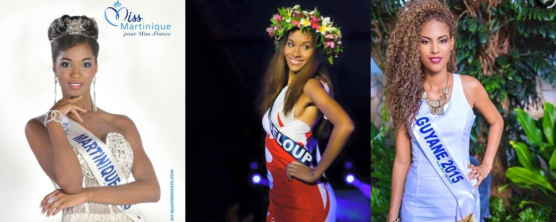 Miss Guadeloupe, Martinique, Guyane, Réunion, Nouvelle-Calédonie, Mayotte et Tahiti, 7 sublimes reines de beauté en route pour Miss France