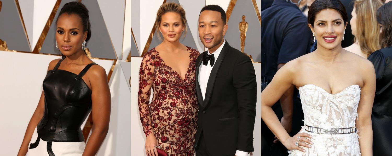 Oscars 2016 : Kerry Washington, Chrissy Teigen et Priyanka Chopra sublimes sur le red carpet