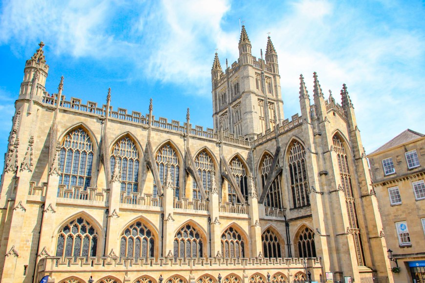 The beautiful Bath Abbey.