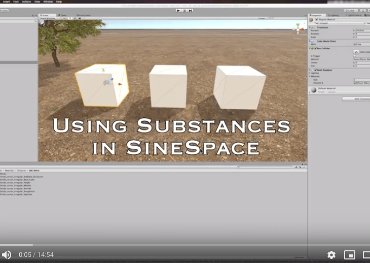 Use Substances in SineSpace