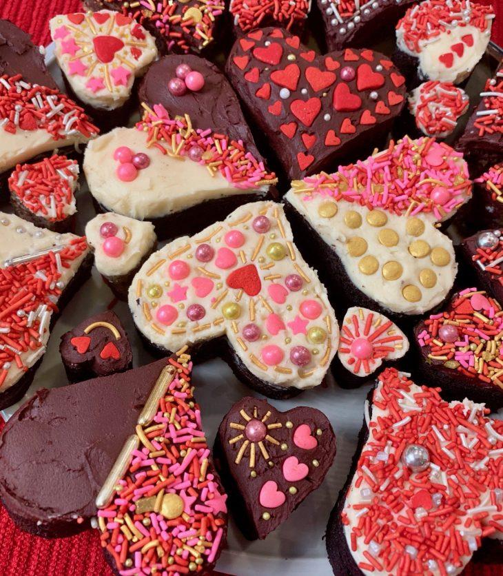 Valentine Brownie Bites