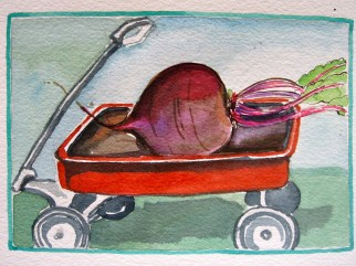 This is the wagon That carried the beet That Tom grew.