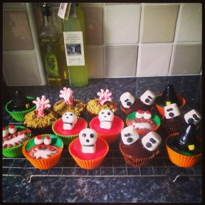 Selection of Halloween cupcakes