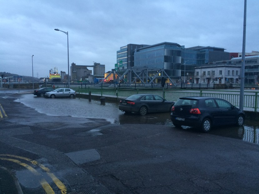 ...and this one. That's how quickly waters can rise here in Cork.