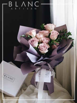 MELLOW MOCHA - PURPLE ROSES | ROSE DYNASTY | BLANC SIGNATURE