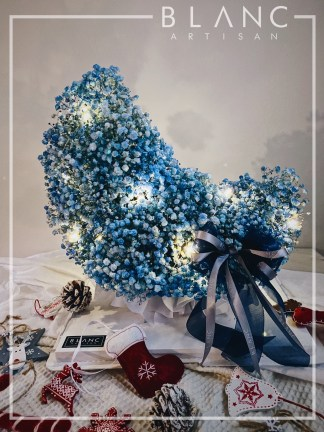 🎅🏻 ISTANBUL - BLUE BABY BREATH MOON SHAPE SINTERKLASS - 🎄 CHRISTMAS SPECIAL 2020