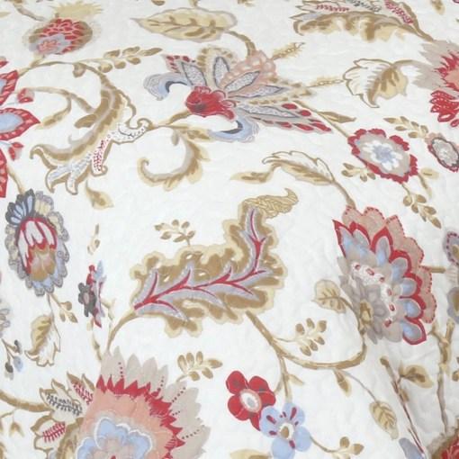 Cobertor Blanco con Flores