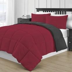Simil Plumon rojo y negro
