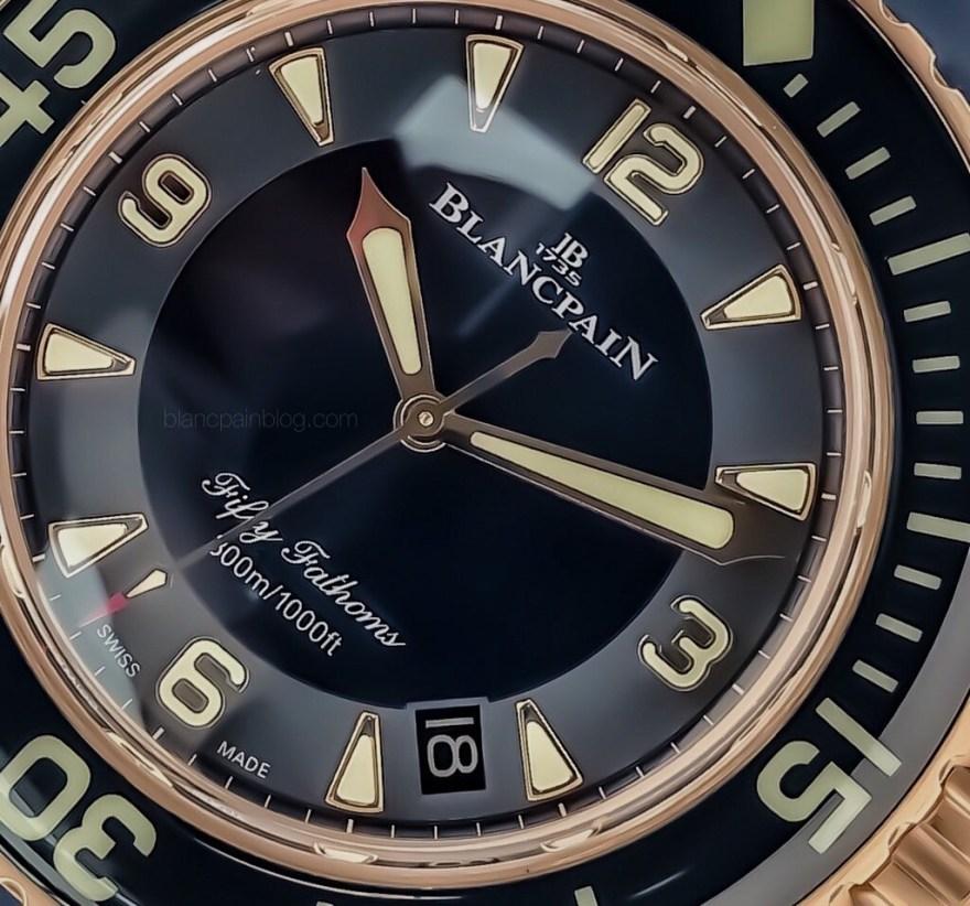 Fifty Fathoms RG blue ceramic dial