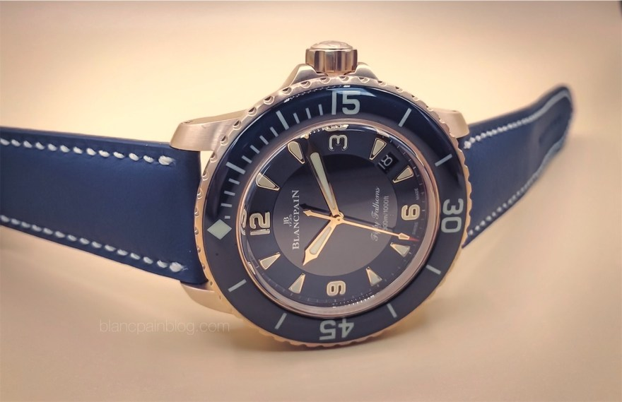 Fifty Fathoms RG blue ceramic dial