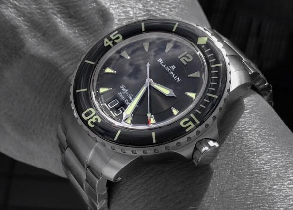 Fifty Fathoms 5050 on titanium bracelet