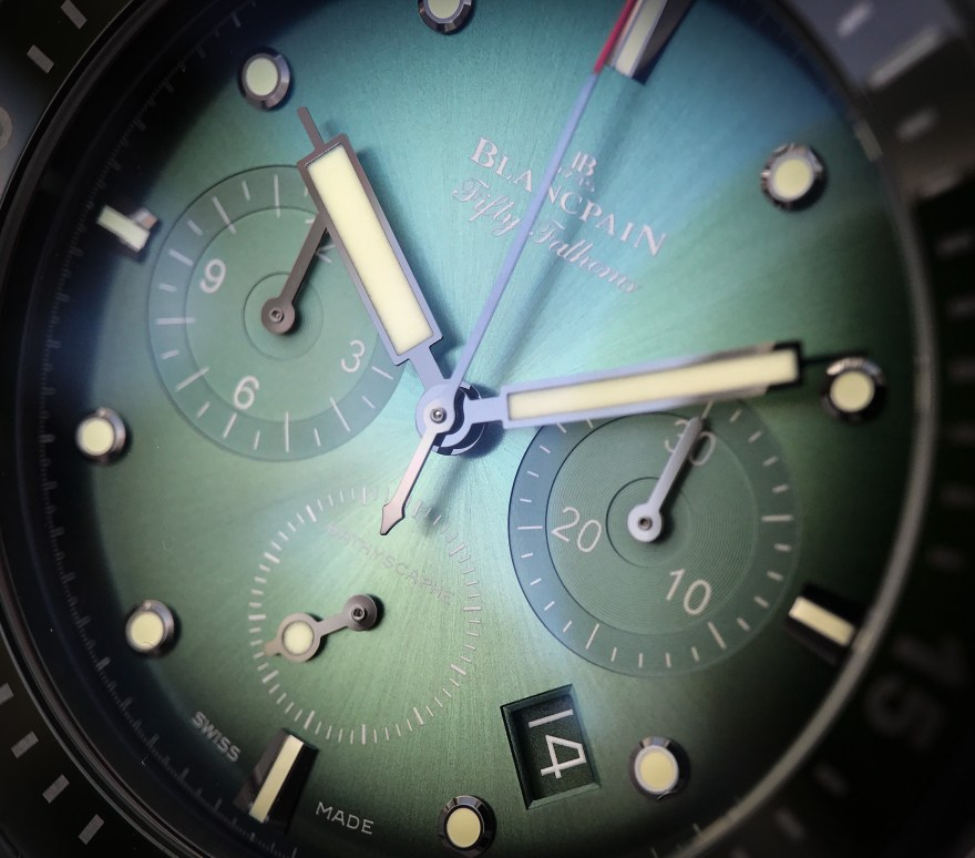 Bathyscaphe Chronographe Ceramic green