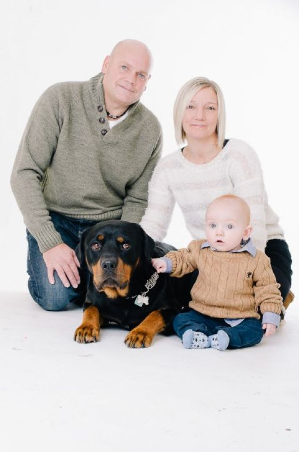 Dorset Pet Dog and Baby Portrait photography