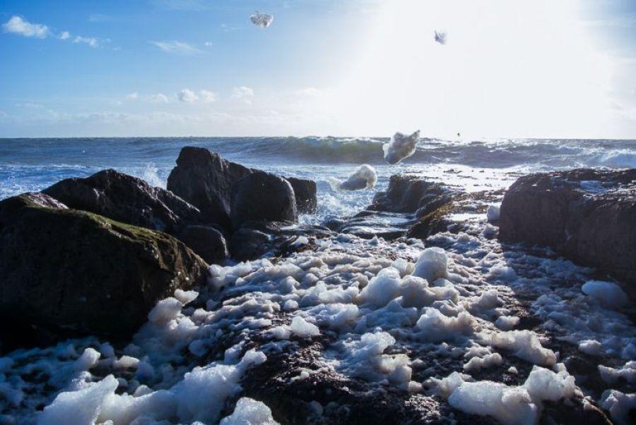 Portland Bill Dorset Portrait Landscape Photographer - Flying Foam and Rough seas 7