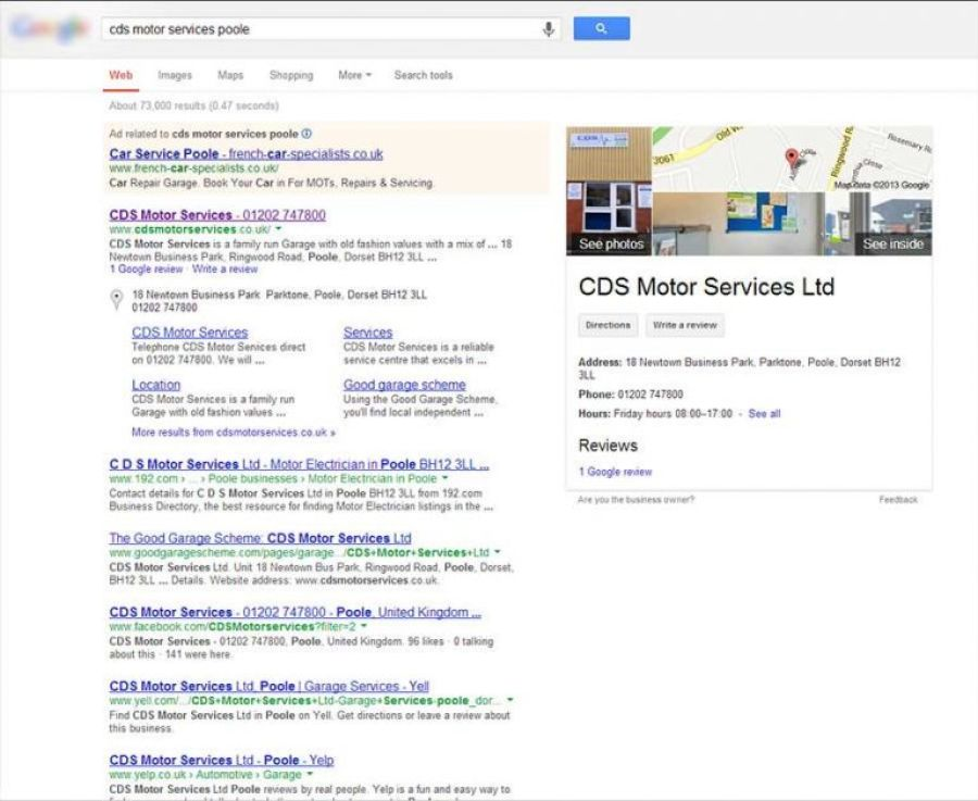 google business photography business listing