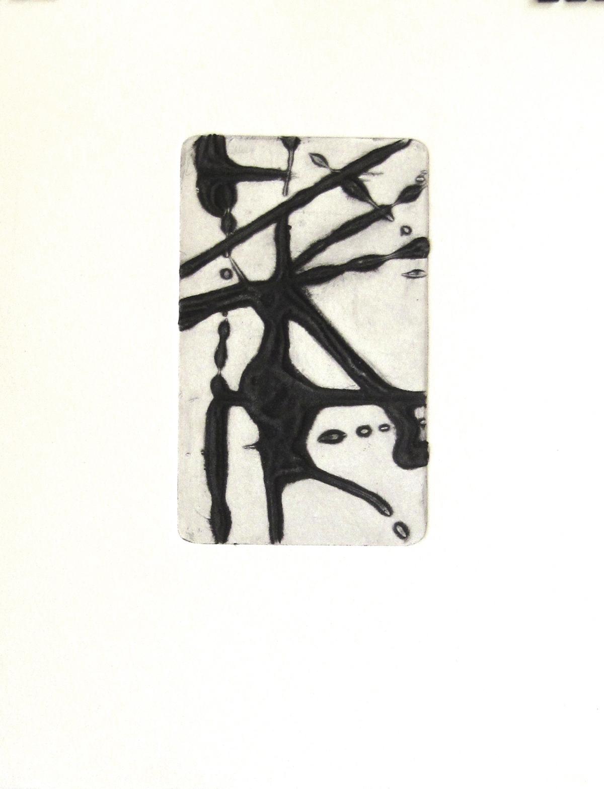 instant 35#4, édition de 4, carborundum sur papier BFK Rives 270g, 20x30 cm, blandine galtier ©