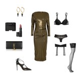 metallic dress: Vivienne Westwood Anglomania lingerie: La Perla shoes: Aquazzura
