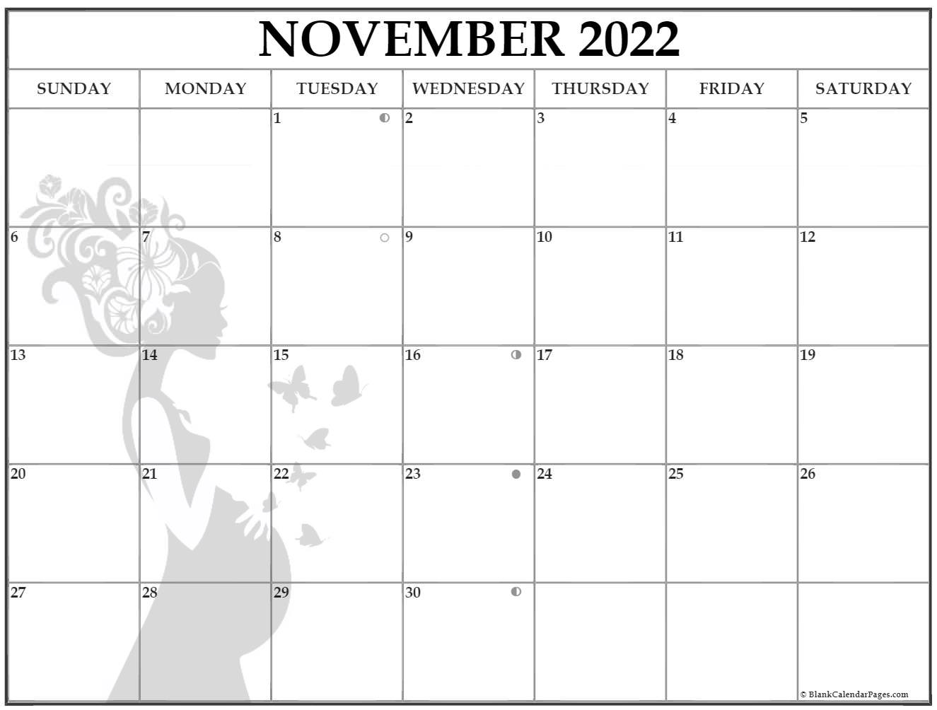 November Pregnancy Calendar