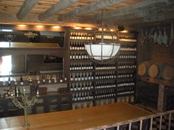 A private wine room at Narbona