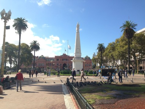 Plaza de Mayo and the Pink House