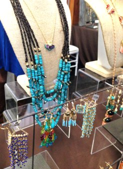 Earrings and other jewelry by Amanda Sterett