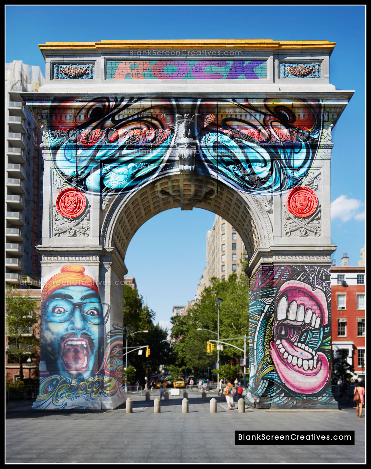 Washington Square Park Arch Tagged, nyc