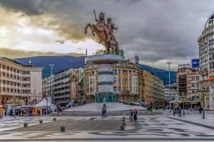 Staty på Alexander den store i Skopje