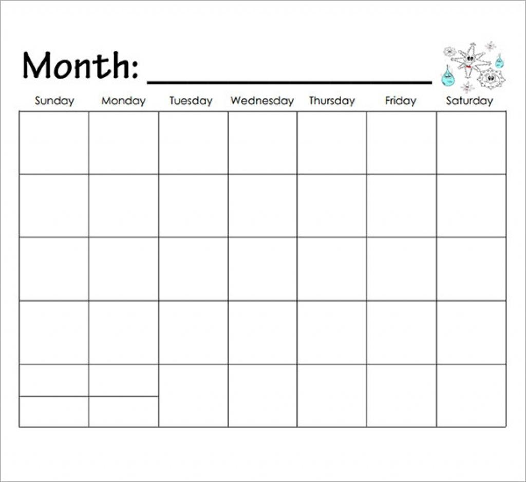 Printable Calendar Kindergarten