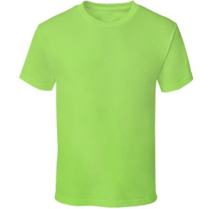 TBTS QUOZ Men Wave Lime Green Tee