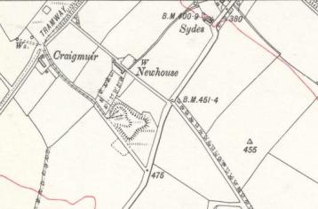 1897 Map showing Auchentibber tramway