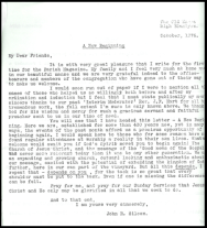 1976 Old Parish Letter from Mr Silcox