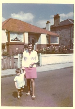 1969 Station Road, my mother Janet and my cousin Douglas Glen