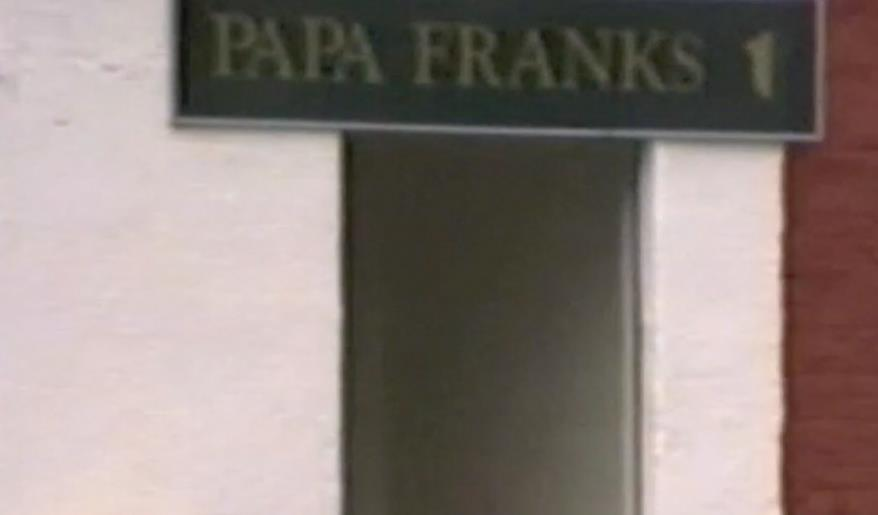 1993 Entrance to Papa Franks