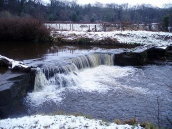 2011 Milheugh Falls in Winter by J Brown