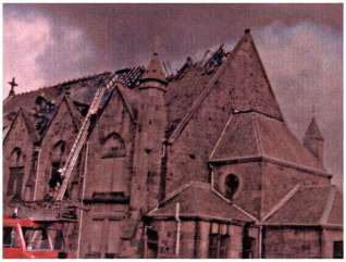1979 Stonefield Church after fire