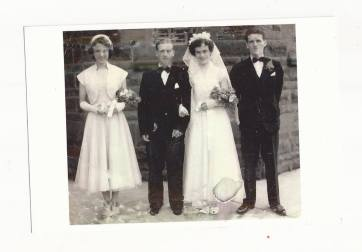 1952 Bobby & Helen Ferguson wedding day St Josephs