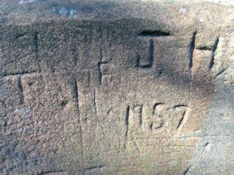 2014 Early Graffiti on Milheugh Bridge (PV)