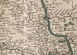 1654 Map of Lanarkshire & Glasgow incl Blantyre.