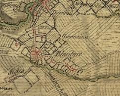 1747 High Blantyre map
