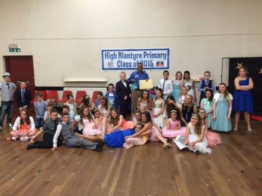 High Blantyre P7 Prom at Cemetery Hall, 20th June 2015