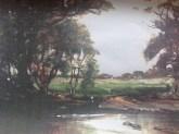 c1900 Painting Uddingston across from Boatland