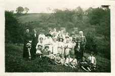 1927 Calder Picnic. My Gran Mary Danskin at the back near the tall chap