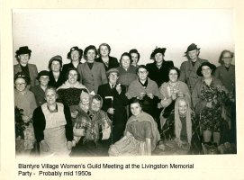 1955 Blantyre Womens Guild at David Livingstone Centre party