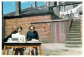 1968 Janet Duncan on right at Braidwood Builders, Logan St