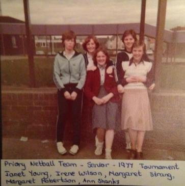 1977 Blantyre High School Priory Netball Team by Margaret Farmer