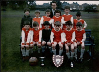 c1980 Red rockets football at Kirkton Park. Photo by P Murray