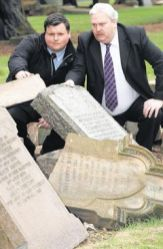 2008 June. Councillors John McNamee & Bert Thomson step up to Vandalism