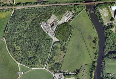 2013 Aerial view Clyde Bridge