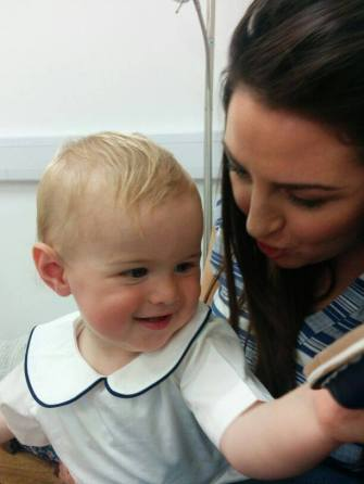 2014 Lewis Cumberland who shares birthday with Prince George. Mother Kirsty